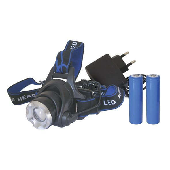 TIPA Čelovka LED 3W, Cree XM-L T6 + 2x18650 baterie a nabíječka