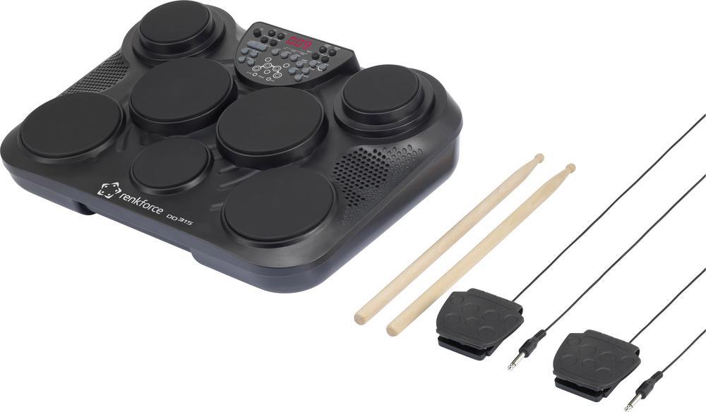 Elektronické bicí renkforce DD-315, paličky a šlapky 1409879