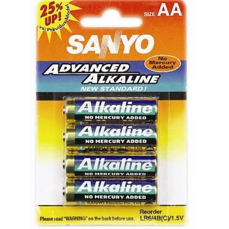 Sanyo LR6/4B AL. AA (4KS) , 1,5V alkalická baterie