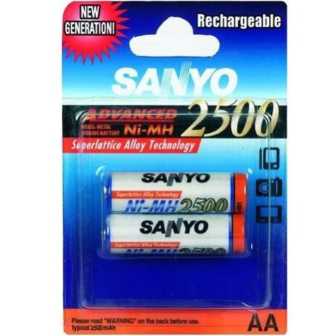 Sanyo HR 3U-2BP 2500 MAH,AA 2KS , Nabíjecí baterie AA Ni-MH 2500mAh