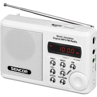 Sencor SRD 215 W rádio s USB/MP3
