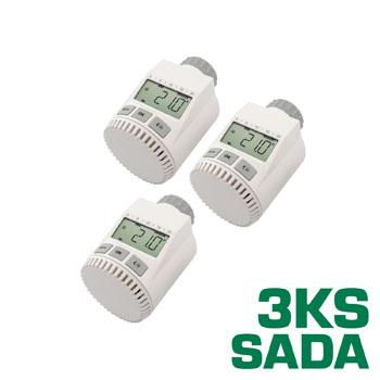 Programovatelná termostatická hlavice FK3030C sada 3 kusy