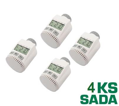 Programovatelná termostatická hlavice FK3030C sada 4 kusů