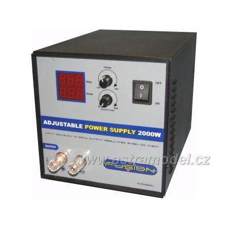 Fusion regulovatelný zdroj 2000W 230V/12-26V 0-80A
