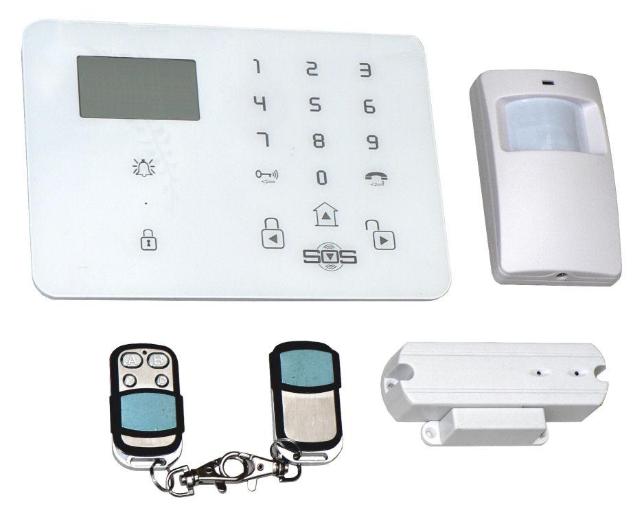 Bezdrátový domovní GSM alarm s GSM telefonem a SOS Hutermann Guard HG-209-CZ