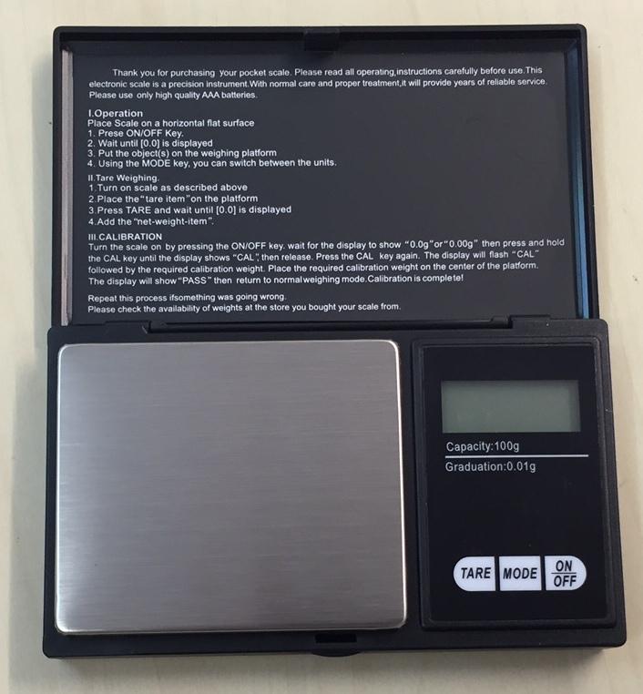 Kapesní váha 100x0,01g R276B