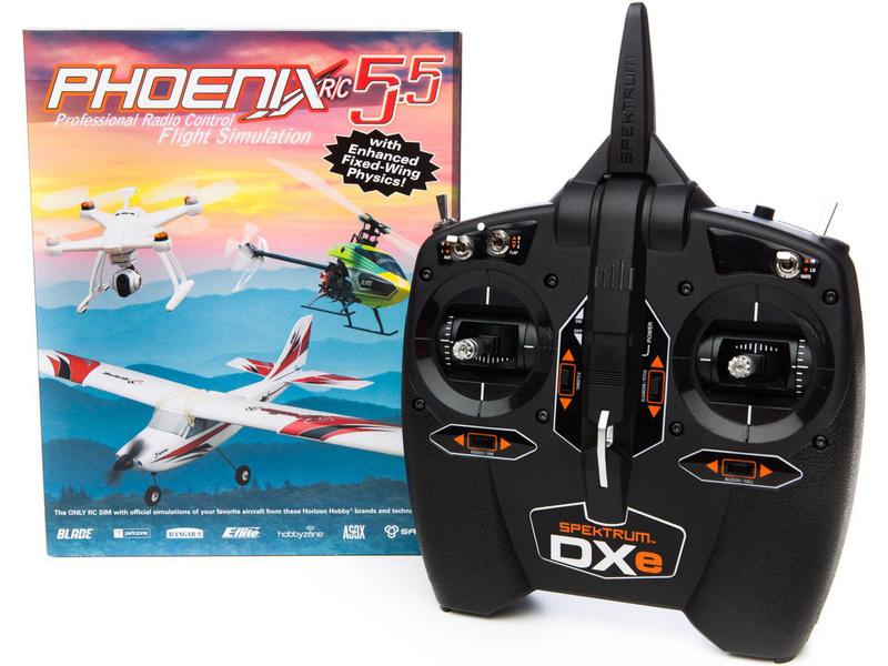 Phoenix RC Pro V5.5 simulátor + DXe Mód 1-4