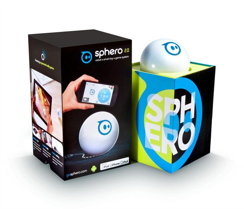 Sphero 2.0- inteligentní koule, dálkově ovládaná hračka- bílá