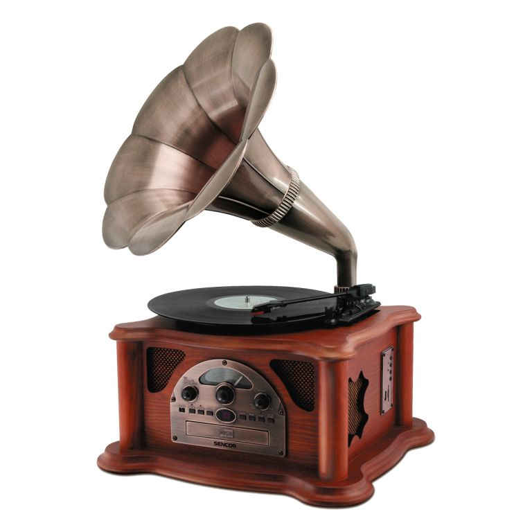 Sencor STT 018 TUBE retro gramofon , R/CD/USB/SD