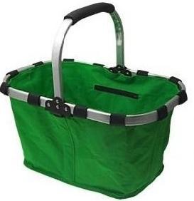Nákupní košík skládací zelená barva A5518