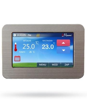 Pokojový termostat s barevným dotykovým displejem Flame Touch FT-1