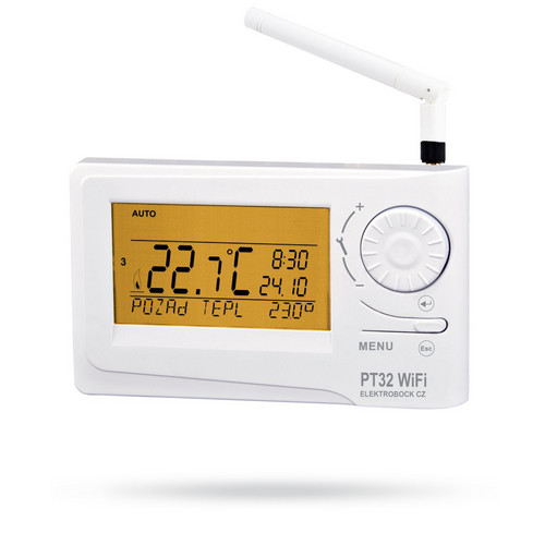Autonomní digitální termostat s Wifi modulem PT32 WiFi