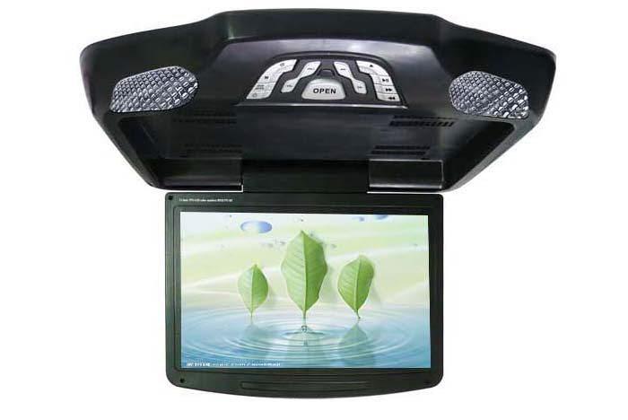 Stropní výklopný monitor 11' s DVD přehrávačem, USB port, SD slot, lampička