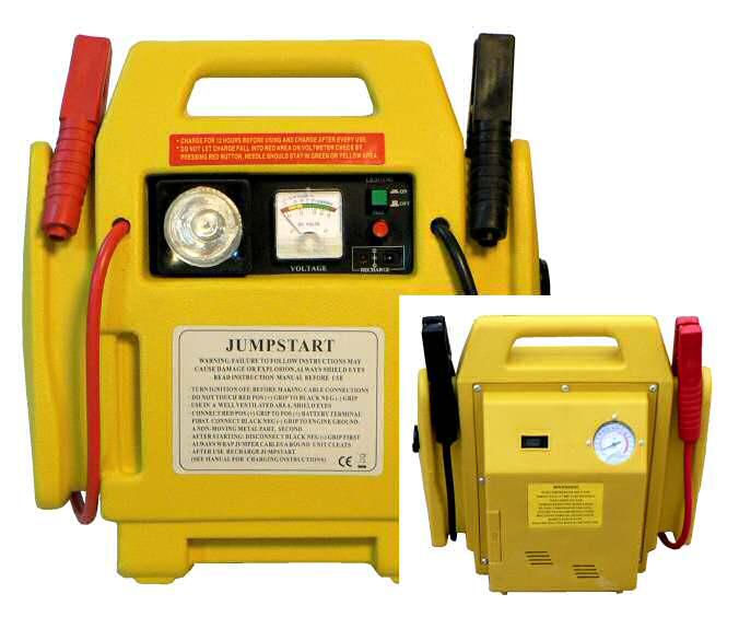 Startovací bateriová stanice 4 v 1 s kompresorem Jump Start Box Hutermann HJ-1201