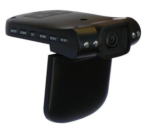 Kamera do auta on board operativní HD palubní černá skříňka 1280x720 BlackBox se záznamem a LCD displejem Hutermann HDVR5931HR