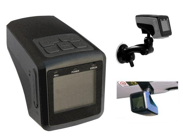 Barevná palubní sportovní kamera černá skříňka do auta on board 720x480 se záznamem a LCD displejem - HDVR5970