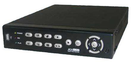 Digitální Real-time DVR rekordér pro 4 kamery, 4x audio, H.264, tiché provedení DVR 3304 SILENT