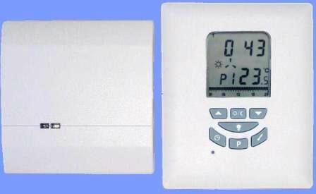 Bezdrátový programovatelný pokojový prostorový termostat Euro Thermo 105-TB
