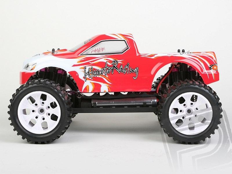HiMOTO Monster Truck EMXT-1 1:10 elektro RTR - HITEC Aggressor 2,4GHz červená