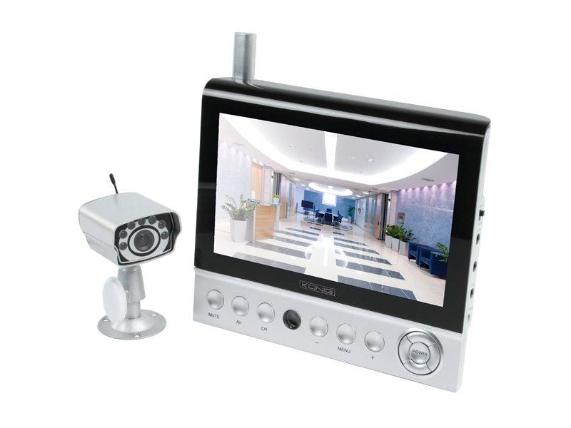 König Bezdrátová venkovní kamera SEC-TRANS30 + 7'' LCD monitor