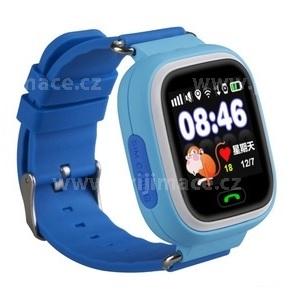 HELMER LK703 - dětské hodinky s GPS lokátorem modré, dotykový display
