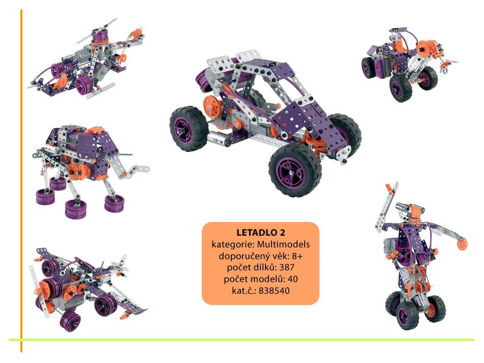 Letadlo (motor 6V) MM40 ,Multi models,40 modelů,387 dílů