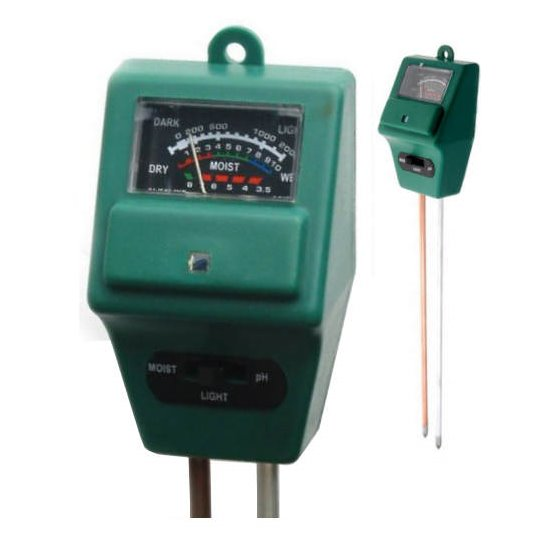 Měřič vlhkosti a kyselosti půdy PMH35 + měřič osvětlení pH půdní vlhkoměr pro květiny