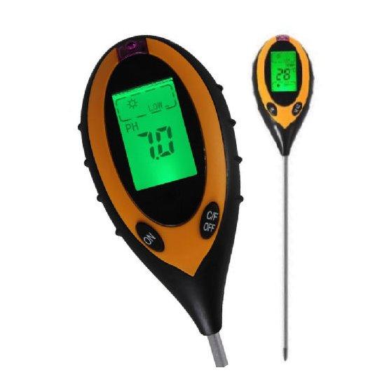 Měřič půdy 4 v 1 PMH300 - měří vlhkost, kyselost pH, teplotu, osvětlení - pH půdní vlhkoměr pro květiny