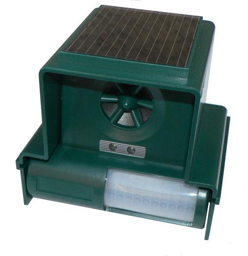 Hutermann DC19S solární odpuzovač psů, koček, ptáků, hlodavců plašič se stroboskopem a detekcí pohybu