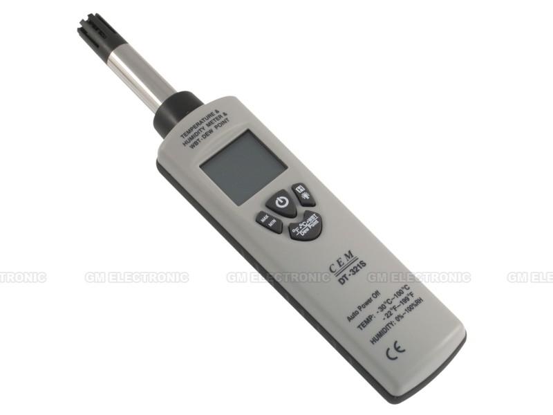 Univerzální měřič teploty a vlhkosti CEM DT-321S