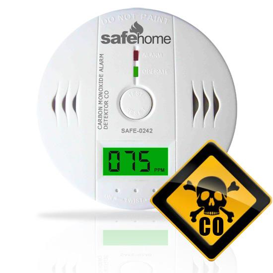 Detektor CO SAFE 0242 - měření oxidu uhelnatého
