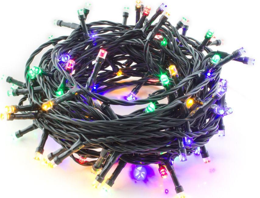 Vánoční LED řetěz barevný 100LED venkovní