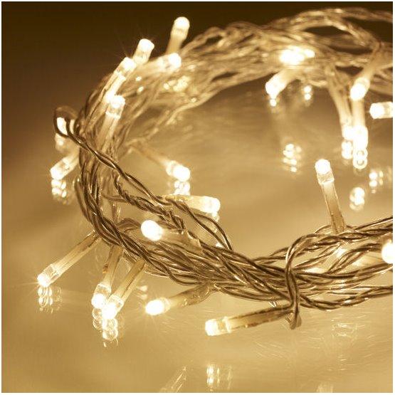 Vánoční LED řetěz bílý 120LED venkovní