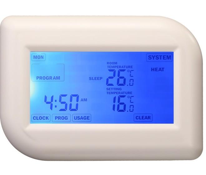 Hutermann TE012T programovatelný termostat týdenní s dotykovým displejem
