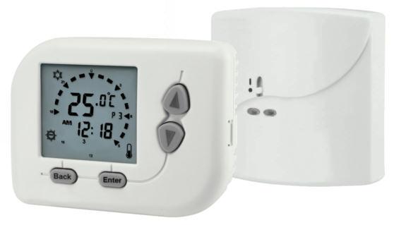 Hütermann TE2800RF bezdrátový termostat programovatelný pokojový prostorový