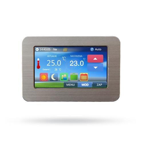 Bezdrátový termostat s barevným dotykovým displejem Flame Touch-W