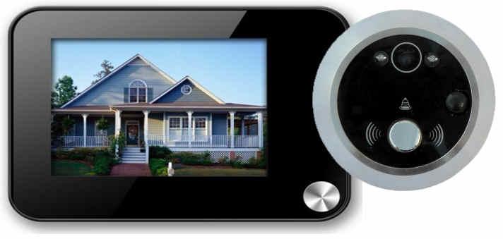 VN-3502M dveřní digitální kukátko se záznamem a detekcí pohybu - kamera s LCD monitorem