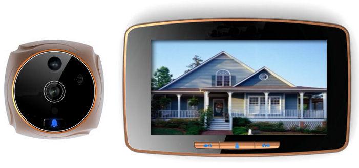 Dveřní digitální kukátko s kamerou a LCD monitorem, záznamem a zasíláním MMS zpráv VN-502W