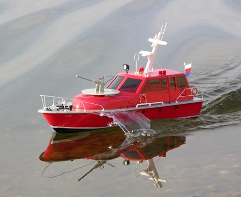 ZAR stavebnice lodi (kov. hřídel),model hasičského člunu